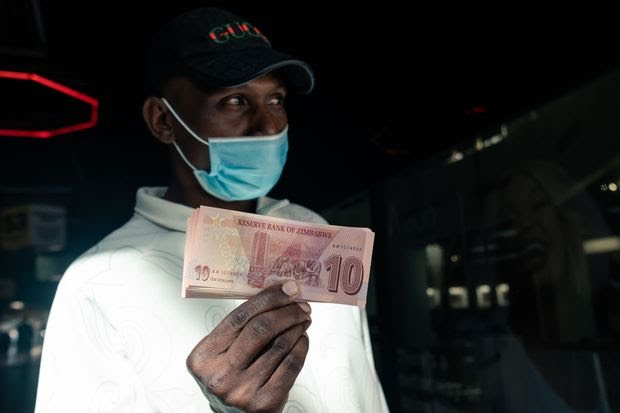 The value of the Zimbabwe dollar has plunged.