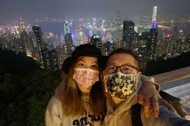 Vicky Choi, left, and Jay Pang both used ICQ as teenagers, before they met. Above, in Hong Kong in December.