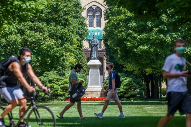 Reopening Schools: College Orientation at Notre Dame Welcomes Students to a Strange New World